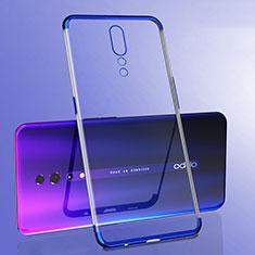 Custodia Silicone Trasparente Ultra Sottile Cover Morbida H02 per Oppo Reno Z Blu