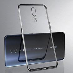 Custodia Silicone Trasparente Ultra Sottile Cover Morbida H02 per Oppo Reno Z Nero