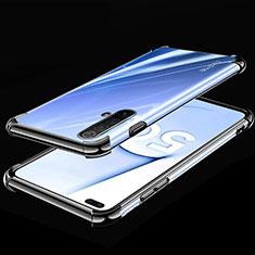 Custodia Silicone Trasparente Ultra Sottile Cover Morbida H02 per Realme X50m 5G Nero