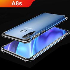 Custodia Silicone Trasparente Ultra Sottile Cover Morbida H02 per Samsung Galaxy A8s SM-G8870 Nero