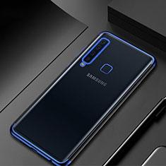 Custodia Silicone Trasparente Ultra Sottile Cover Morbida H02 per Samsung Galaxy A9s Blu