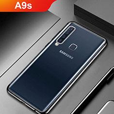 Custodia Silicone Trasparente Ultra Sottile Cover Morbida H02 per Samsung Galaxy A9s Nero