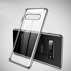 Custodia Silicone Trasparente Ultra Sottile Cover Morbida H02 per Samsung Galaxy S10 Nero