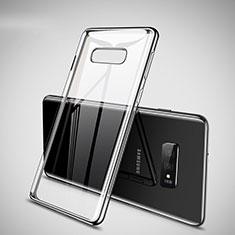 Custodia Silicone Trasparente Ultra Sottile Cover Morbida H02 per Samsung Galaxy S10e Argento
