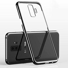 Custodia Silicone Trasparente Ultra Sottile Cover Morbida H02 per Samsung Galaxy S9 Plus Nero