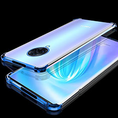 Custodia Silicone Trasparente Ultra Sottile Cover Morbida H02 per Vivo Nex 3 Blu
