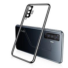 Custodia Silicone Trasparente Ultra Sottile Cover Morbida H02 per Vivo X50 5G Nero