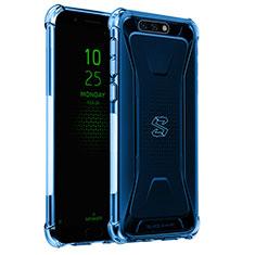 Custodia Silicone Trasparente Ultra Sottile Cover Morbida H02 per Xiaomi Black Shark Blu