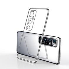 Custodia Silicone Trasparente Ultra Sottile Cover Morbida H02 per Xiaomi Mi 10 Ultra Argento