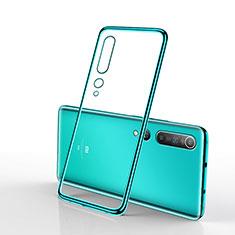 Custodia Silicone Trasparente Ultra Sottile Cover Morbida H02 per Xiaomi Mi 10 Verde