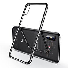 Custodia Silicone Trasparente Ultra Sottile Cover Morbida H02 per Xiaomi Mi 8 Explorer Nero