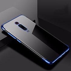 Custodia Silicone Trasparente Ultra Sottile Cover Morbida H02 per Xiaomi Mi 9T Blu