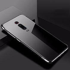 Custodia Silicone Trasparente Ultra Sottile Cover Morbida H02 per Xiaomi Mi 9T Nero