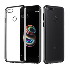 Custodia Silicone Trasparente Ultra Sottile Cover Morbida H02 per Xiaomi Mi A1 Nero