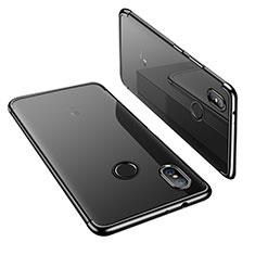 Custodia Silicone Trasparente Ultra Sottile Cover Morbida H02 per Xiaomi Mi A2 Nero