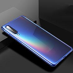 Custodia Silicone Trasparente Ultra Sottile Cover Morbida H02 per Xiaomi Mi A3 Blu