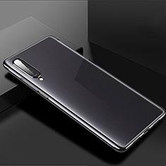 Custodia Silicone Trasparente Ultra Sottile Cover Morbida H02 per Xiaomi Mi A3 Nero