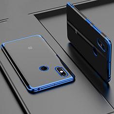 Custodia Silicone Trasparente Ultra Sottile Cover Morbida H02 per Xiaomi Mi Max 3 Blu
