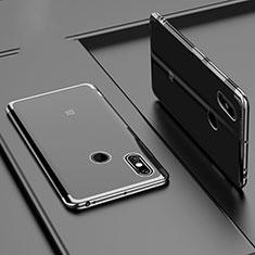 Custodia Silicone Trasparente Ultra Sottile Cover Morbida H02 per Xiaomi Mi Max 3 Nero