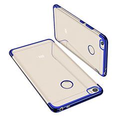 Custodia Silicone Trasparente Ultra Sottile Cover Morbida H02 per Xiaomi Mi Max Blu