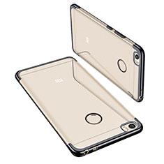 Custodia Silicone Trasparente Ultra Sottile Cover Morbida H02 per Xiaomi Mi Max Nero