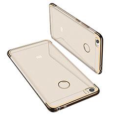 Custodia Silicone Trasparente Ultra Sottile Cover Morbida H02 per Xiaomi Mi Max Oro