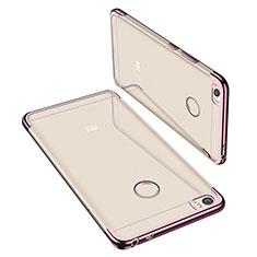 Custodia Silicone Trasparente Ultra Sottile Cover Morbida H02 per Xiaomi Mi Max Oro Rosa