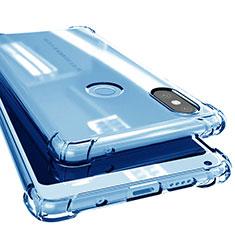 Custodia Silicone Trasparente Ultra Sottile Cover Morbida H02 per Xiaomi Mi Mix 2S Blu
