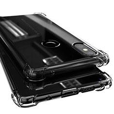 Custodia Silicone Trasparente Ultra Sottile Cover Morbida H02 per Xiaomi Mi Mix 2S Nero