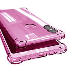 Custodia Silicone Trasparente Ultra Sottile Cover Morbida H02 per Xiaomi Mi Mix 2S Rosa