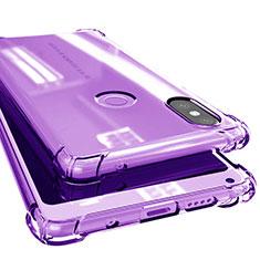 Custodia Silicone Trasparente Ultra Sottile Cover Morbida H02 per Xiaomi Mi Mix 2S Viola