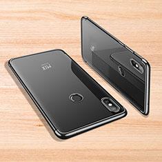 Custodia Silicone Trasparente Ultra Sottile Cover Morbida H02 per Xiaomi Mi Mix 3 Nero