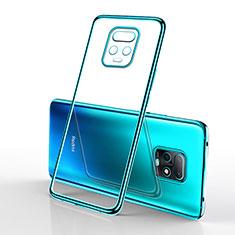 Custodia Silicone Trasparente Ultra Sottile Cover Morbida H02 per Xiaomi Redmi 10X Pro 5G Ciano
