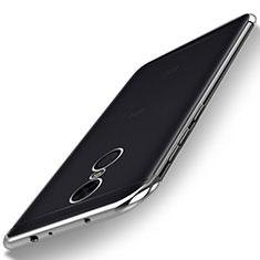 Custodia Silicone Trasparente Ultra Sottile Cover Morbida H02 per Xiaomi Redmi 5 Plus Argento