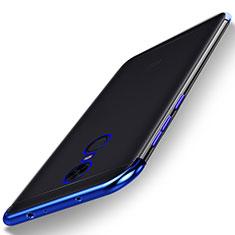 Custodia Silicone Trasparente Ultra Sottile Cover Morbida H02 per Xiaomi Redmi 5 Plus Blu