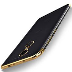 Custodia Silicone Trasparente Ultra Sottile Cover Morbida H02 per Xiaomi Redmi 5 Plus Oro