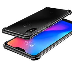 Custodia Silicone Trasparente Ultra Sottile Cover Morbida H02 per Xiaomi Redmi 6 Pro Nero