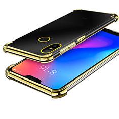Custodia Silicone Trasparente Ultra Sottile Cover Morbida H02 per Xiaomi Redmi 6 Pro Oro