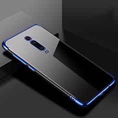 Custodia Silicone Trasparente Ultra Sottile Cover Morbida H02 per Xiaomi Redmi K20 Blu