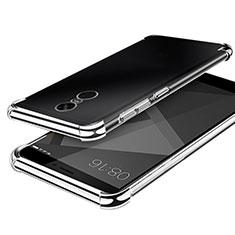 Custodia Silicone Trasparente Ultra Sottile Cover Morbida H02 per Xiaomi Redmi Note 4X High Edition Argento