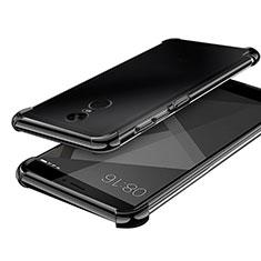 Custodia Silicone Trasparente Ultra Sottile Cover Morbida H02 per Xiaomi Redmi Note 4X High Edition Nero