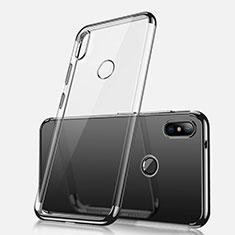 Custodia Silicone Trasparente Ultra Sottile Cover Morbida H02 per Xiaomi Redmi Note 5 Pro Nero