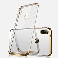 Custodia Silicone Trasparente Ultra Sottile Cover Morbida H02 per Xiaomi Redmi Note 5 Pro Oro