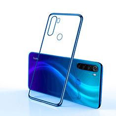 Custodia Silicone Trasparente Ultra Sottile Cover Morbida H02 per Xiaomi Redmi Note 8 Blu