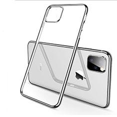 Custodia Silicone Trasparente Ultra Sottile Cover Morbida H03 per Apple iPhone 11 Pro Max Argento