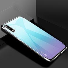 Custodia Silicone Trasparente Ultra Sottile Cover Morbida H03 per Huawei Enjoy 10 Argento