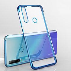 Custodia Silicone Trasparente Ultra Sottile Cover Morbida H03 per Huawei Enjoy 10 Plus Blu