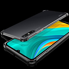 Custodia Silicone Trasparente Ultra Sottile Cover Morbida H03 per Huawei Enjoy 10e Nero