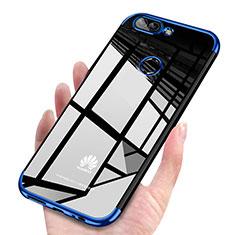 Custodia Silicone Trasparente Ultra Sottile Cover Morbida H03 per Huawei Enjoy 7S Blu