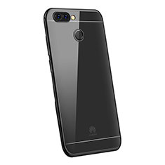 Custodia Silicone Trasparente Ultra Sottile Cover Morbida H03 per Huawei Enjoy 7S Nero